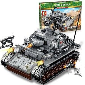 Image 1 - New 596pcs WW2 Tank Series Germany Iv Tank Building Blocks Model Bricks  WW2 Military Figures Toys For Kids