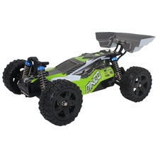 1651 1/16 2.4G 4Wd 40Km/H Waterproof 390 Brushed Rc Car Dingo Off-Road Buggy Truck-Green Eu Plug