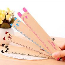 4PCS/lot lovely Animal design wooden Bookmarker Ruler Kids Teenagers  Study Supplies book mark