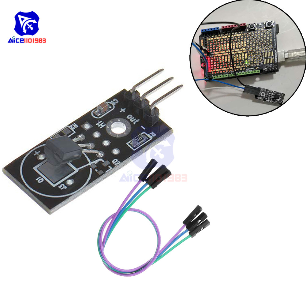 diymore <font><b>DS18B20</b></font> <font><b>Module</b></font> Single Bus Digital 18B20 Temperature Sensor Electronic Building Blocks with 3Pin Jumper Wire for Arduino image