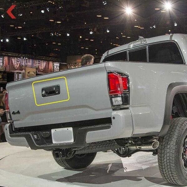 Pour Toyota Tacoma 2015-2020 Chrome arrière porte arrière poignée attraper revêtement d'habillage poignées latérales bol tasse moulage accessoires