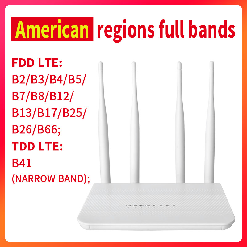 4G CPE Americas regions full band B2 B3 B4 B5 B7 B8 B12 B13 B17 B25