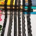 * 2,5-3,5 см S1516 эластичные кружевные вставки, черные кружевные вставки, используются для шитья женского нижнего белья и жилетов