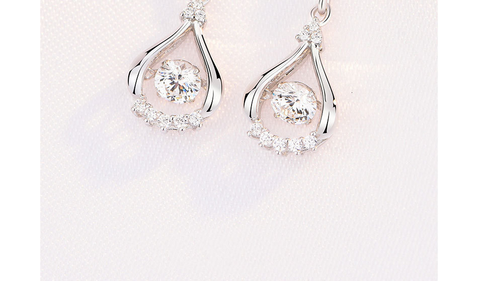 Hc231bdc19fee453e9c495fc5990e0d8aO - WEGARASTI Silver 925 Jewelry Zircon Drop Earrings For Women Real 100% Silver Earring Wholesale Party Wedding Gift Earring Silver
