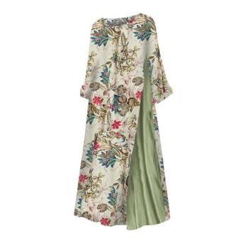 Womens Maxi Beach Dress 2019 Summer Half Sleeve Casual Boho Kaftan Tunic Gypsy Ethnic Style Floral Print Plus Size Dresses S-5XL 4