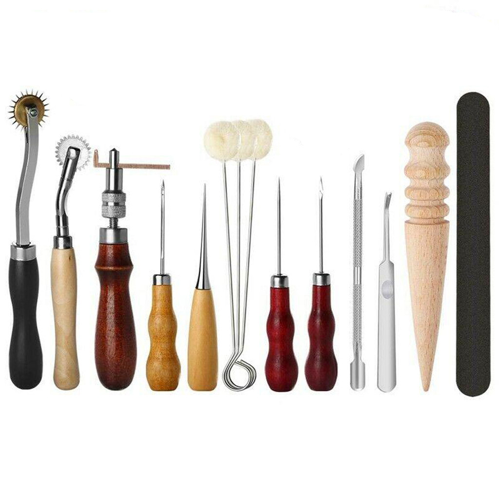 31 Pcs/Set Sewing Needle Awl Leather Craft Sewing Accessories Stitching Awl Sewing Leather Craft Shoe Repair Tools Supplies #BL5 image