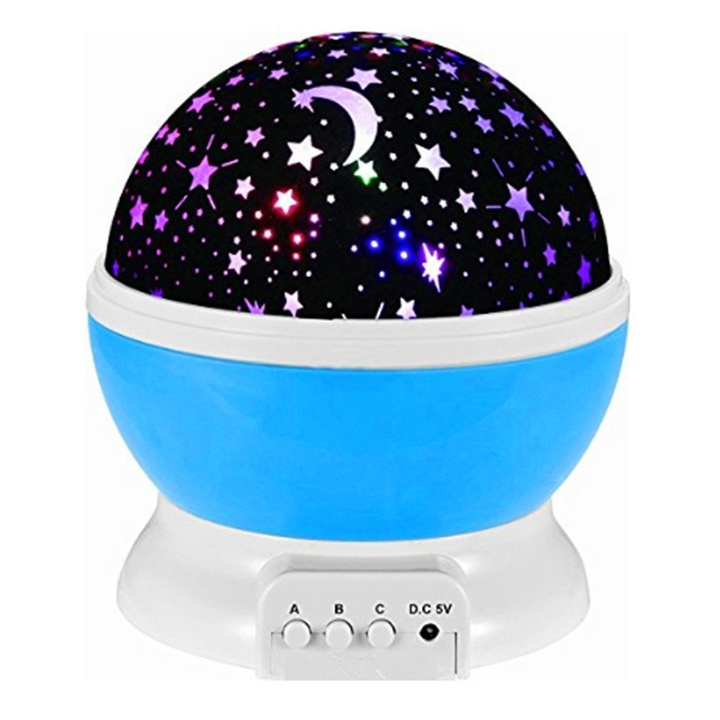 Новый Романтический вращающийся ночник-светильник для проектора