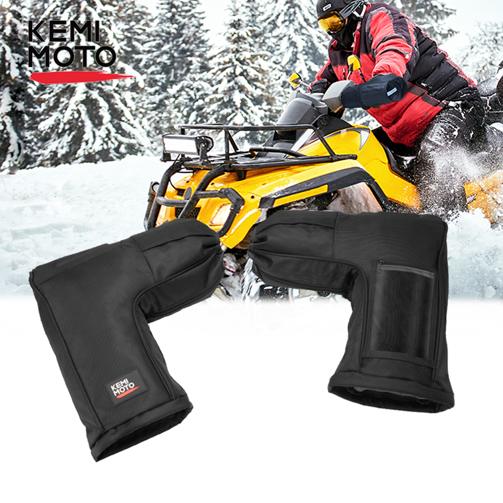 ATV Mitts Motorcycle Winter Gloves w/ Touch bag for Can Am Outlander <font><b>800</b></font> 500cc Kazuma 250cc 110cc for <font><b>Polaris</b></font> <font><b>Sportsman</b></font> image