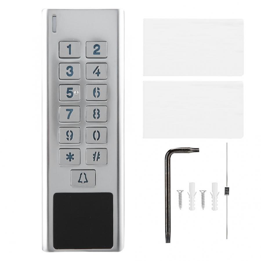 Водонепроницаемая металлическая карта Пароль Клавиатура контроля доступа безопасности для Wiegand 26