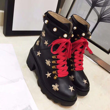 Female Shoes Sneakers Fur-Boots Lace-Up Bees-Stars Winte Casual High-Quality