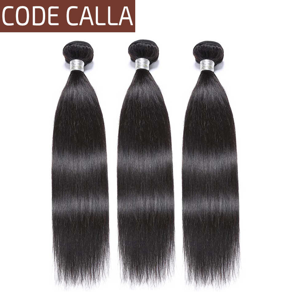 Code Calla Malaysian Straight Hair Bundles Weaving Salon 100% Remy Human Hair Weft Extension Natural Black Color Free Shipment
