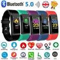 Спортивный смарт-браслет для мужчин и женщин, пульсометр, измерение артериального давления, фитнес-трекер, Bluetooth 5,0, водонепроницаемые Смарт...