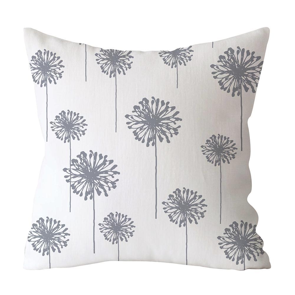 Sofa Pillow Case 18*18 Inch Gray Geometric Decorative Cushion Cover Polyester Geometric Pillowcase Sofa Home Decoration
