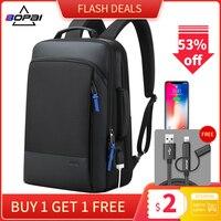 BOPAI 2019 mochila para hombres  mochila de viaje expansible para fin de semana  mochila para ordenador portátil repelente al agua para hombres  mochila para ordenador  mochila masculina|Mochilas| |  -