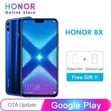 Смартфон Google Play Honor 8X8 X, 4 ГБ, 64 ГБ, Восьмиядерный процессор Kirin 710, двойная задняя камера 20 МП, многоязычный экран 6,5 дюйма, 1080x2340p