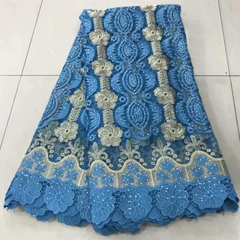 Hot sales stone lace African Emerald lace fabric high quality beautiful nigerian wedding lace new design french dress FFT-925