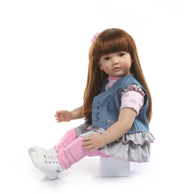 Nouveau Style 60 centimètre grande poupée émuler jouet cheveux longs haut de gamme cadeau de vacances vente chaude éducatifs pour enfants