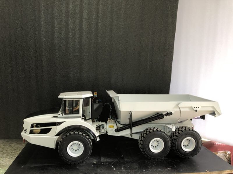 1/14 Rc Toy Articulated Dump Truck Hydraulic Dump Construction Vehicle Child Boy Christmas Gifts
