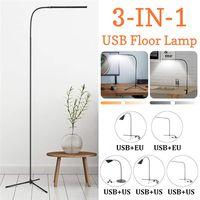 Indoor LED Standing Floor Lamp Adjustable Height Reading  EU/US Plug For LED Light Clamp Dimmable Desktop Lamp Tripod Study Room Floor Lamps Lights & Lighting -