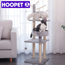 Cats Scratch Toys Mouse-Ball Cat-Furniture Hanging Tree HOOPET Multi-Level with H110cm