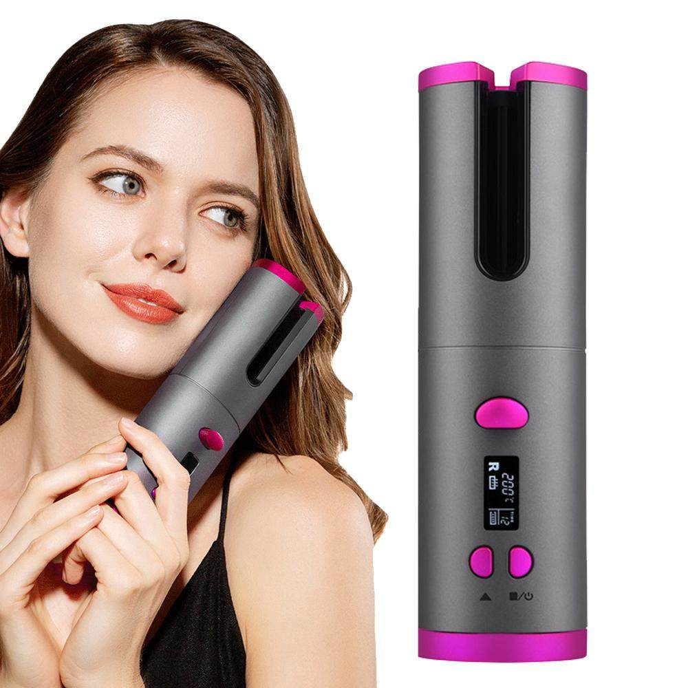 Auto Cordless Hair Curler Portable Wireless USB Rechargeable Curling Iron Ceramic Curler Wand Automatic Rotating Styling Tools