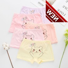 5pcs/lot Children Cartoon Boxer Short Girls Comfortable Underwear Underpant 9--17year Panties Panty Majtki La Reine Des Neiges