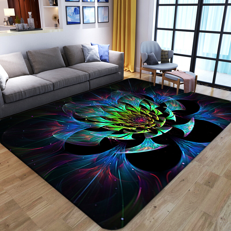 Nordic Parlor Carpet European Style Luxury Coffee Table Mat Colour Printing 3D Carpets For Living Room Bedroom Hallway Area Rugs