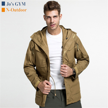 Outdoor Tactical Jacket Men Casual Multi-pocket Waterproof J