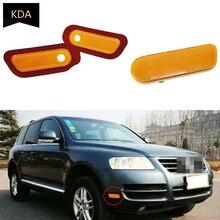 Auto Left Right Front Bumper Lamp Side Marker Light Lamp Reflector For VW Touareg 2003 2004 2005 2006 7L6945119 7L6945120