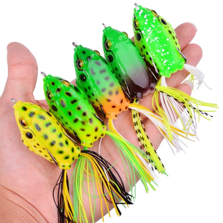 1Pc 65mm 14g Top Water Ray Frog Shape Minnow Crank Wobbler For Fly Fishing Soft Tube Bait Japan Plastic