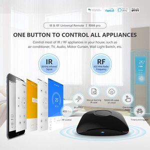 Image 2 - Broadlink RM4 Pro Remote Controller Smart Home Automation WiFi+IR+RF Switch Work With Alexa Google Home Sensor Accessory HTS2