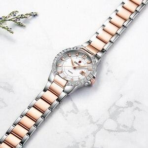 Image 4 - 2020 Women Luxury Dress Watch Crystals Zircon Ladies Watches Waterproof Full Steel TOP Brand Female Wristwatch New Fashion Party