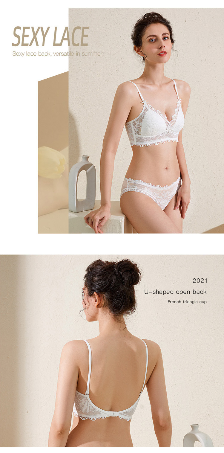 French Push Up Bra And Panty Sets High Quality