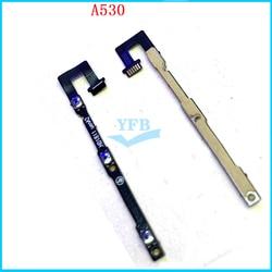 5 pces power on fora do volume lado botão cabo flexível chave para zte a530 peças de reposição