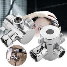 Трехходовой прочный ABS аксессуары для ванной комнаты душевой клапан биде туалет Регулируемый смеситель кран тройник клапана адаптер