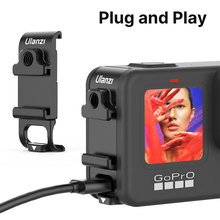 Ulanzi G9 6 מתכת סוללה צד דלת עבור GoPro גיבור 9 שחור סוללה מכסה סוג C טעינה קר נעל הר 1/4 בורג לgopro 9