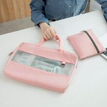 Multifunctional Briefcases Waterproof A4 Document Laptop Organize Bag Travel File Power Bank Phone Storage Handbag Accessories