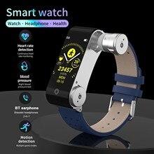 YAK L890 akıllı bilezik + kablosuz kulaklık BT4.2 + BT5.0 spor saat vücut sıcaklığı/uyku/kalp hızı/kan basıncı monitörü Band