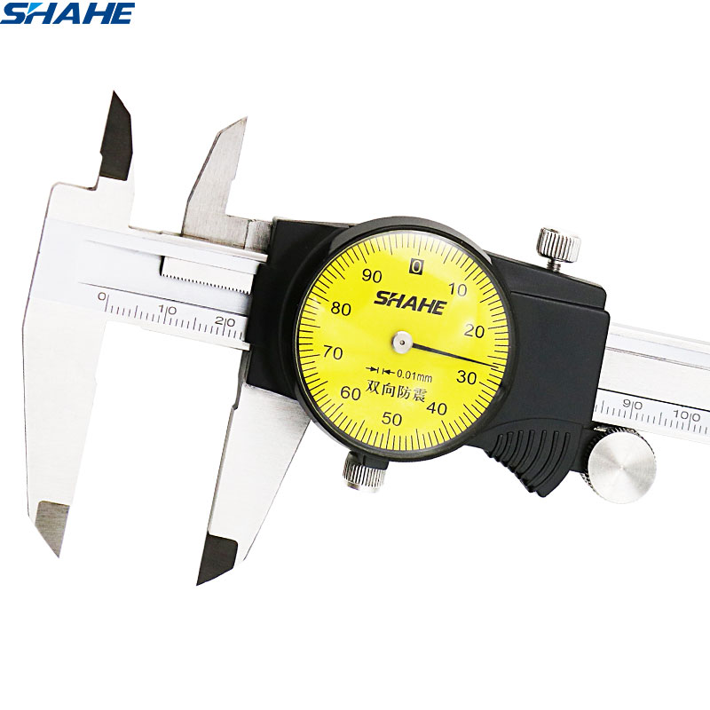 shahe  0-150 mm Metric Gauge Measuring Tool Dial vernier caliper  Shock-proof Vernier Caliper 0 01 mm