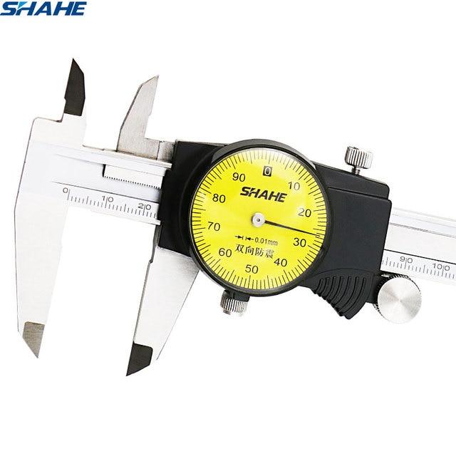 shahe  0-150 mm Metric Gauge Measuring Tool Dial vernier caliper  Shock-proof Vernier Caliper 0.01 mm