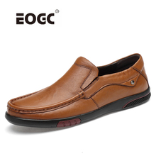 купить Top Quality Men Shoes Loafers Moccasins Genuine Leather Casual Shoes Slip On Comfortable Flats Shoes Men Zapatillas Hombre дешево