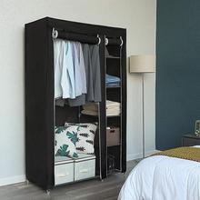 Non-woven Bedroom Wardrobe Cloth Organizer Folding Home Furniture Clothing Storage Cabinet Dust-proof Closet Storage Rack HWC
