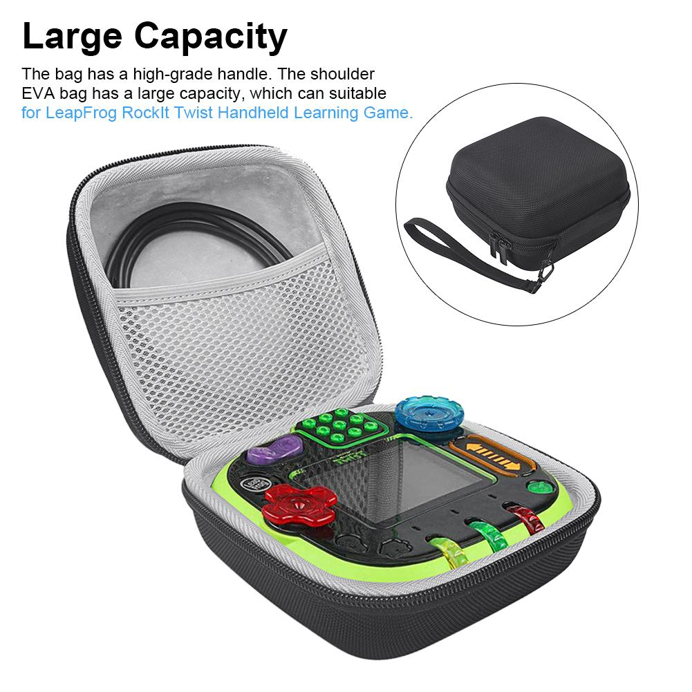 Storage Bag Portable Large Capacity Case All-around Zippered Carrying Pouch With High-grade Handle For LeapFrog RockIt Twist