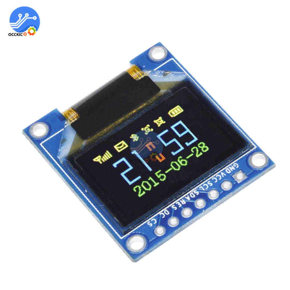 0.95 인치 spi 풀 컬러 oled 디스플레이 diy 모듈 96x64 lcd arduino ssd1306 드라이버 ic 용
