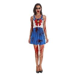 Трансграничной в европейском и американском стиле новые продукты Amazon Хэллоуин 3D красивая девушка воин без рукавов с цифровым изображением ...