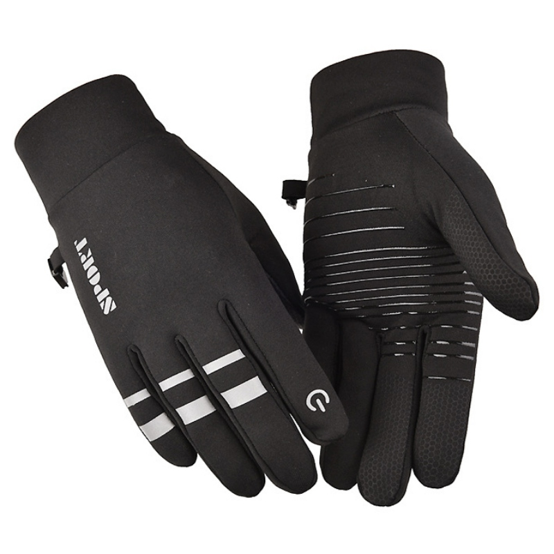 New Men Women Motorcycle Gloves Anti-slip Reflective Cycling Riding Ski Gloves Touch Screen Windstopper Warm Full Finger