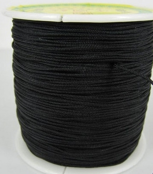 gdf23 black OWM Chinese Knot String Nylon crystal Cord diy accessories Rope for Bracelet