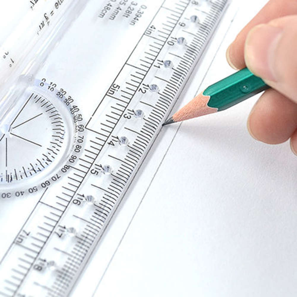 New 30cm Angle Parallel Ruler Universal Foot Chiban Angle Rule Balancing Scale Drawing Reglas Multi-purpose Rolling Ruler
