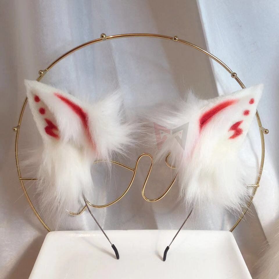 MMGG New Gumiho Blood Totems Fox Ears Hair Hoop Beast Wolves Neko Atyle Headwear Custom Made Hairpin For Girl Women