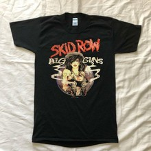 Camisa Grandes Armas do Skid Row 80S Turnê Música Reimpressão 90S 70S T Camisa Do Punk Do Vintage(China)